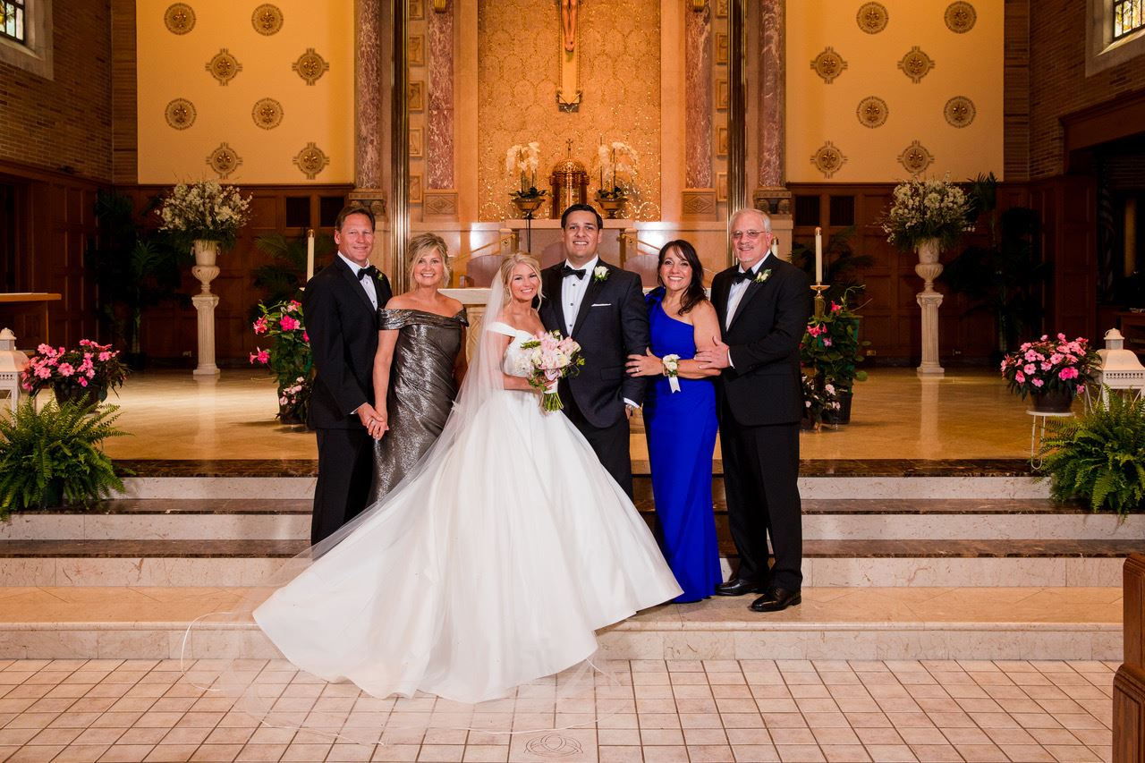 "Beautiful Bride Has ""Hallmark Christmas Movie"" Wedding in Parma, Ohio Image"
